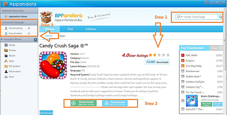 free download and play candy crush saga